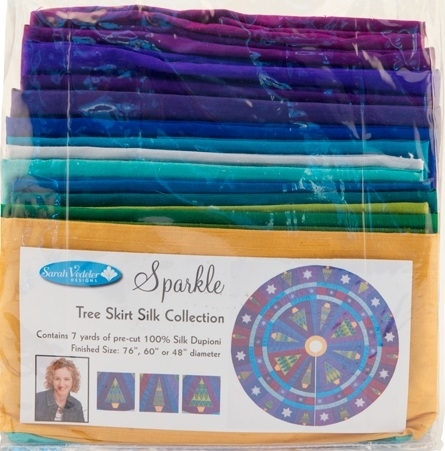 Sparkle Tree Skirt Silk Fabric Collection