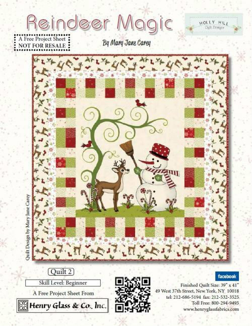 Henry Glass Reindeer Magic Free Pattern 2
