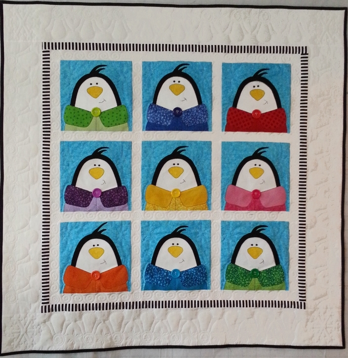 Happy Holidays Penguins Quilt Kit ABDK248Penguins