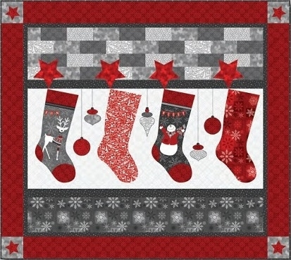 Henry Glass Holiday Magic Stocking Quilt Kit