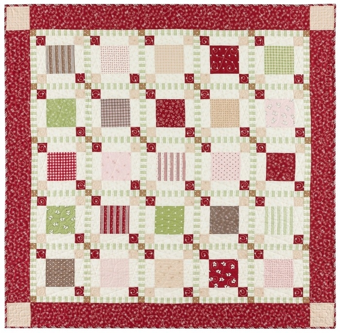 Park Lane at Christmas Red Border Quilt Kit
