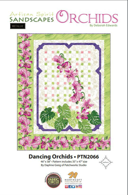 Pattern Dancing Orchids PTN2066