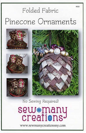 Folded Fabric Pinecone Ornaments