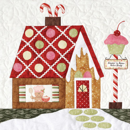 Gingerbread House Quilt Pattern Free : The Quilt Company Gingerbread Village 7 Pattern Pack THQGV100
