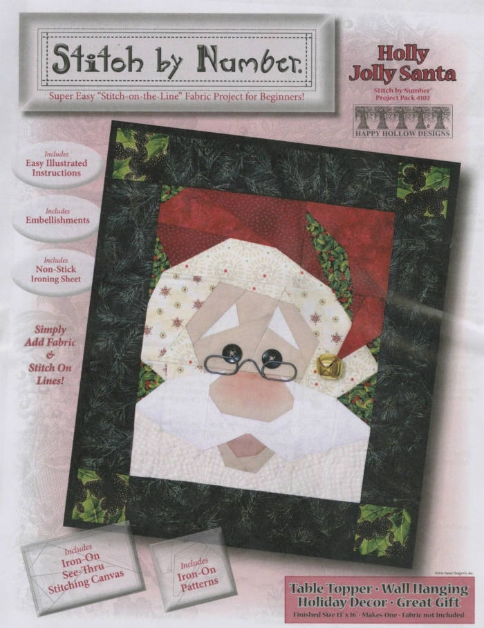 Holly Jolly Santa Pattern HH4102 by Happy Hollow Designs