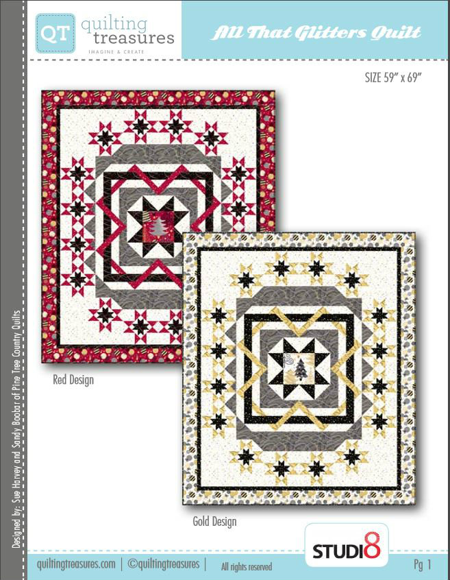 Home Treasures Quilting Patterns : Quilting Treasures All That Glitters Free Pattern