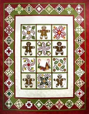 Quilted Gingerbread Pattern by Sue Garmin