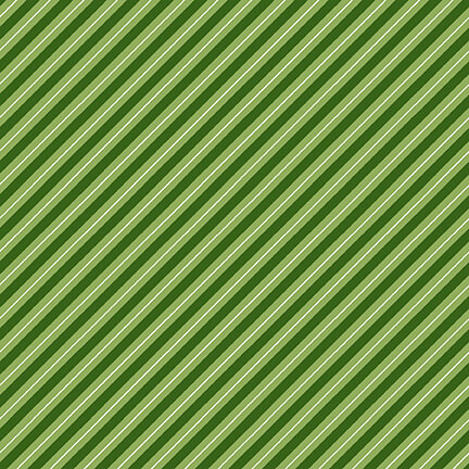 Henry Glass Holly Hill Christmas Candy Cane Stripe 2481-66 Green