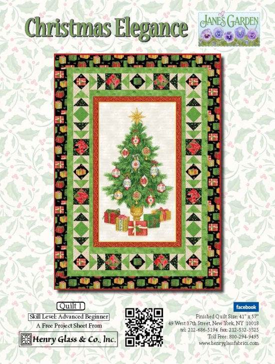 Henry Glass Christmas Elegance Free Quilt Project