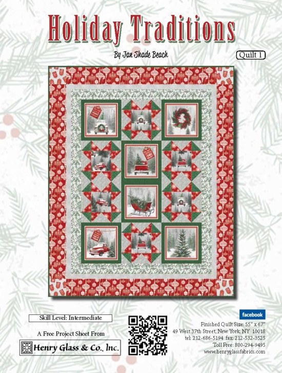 Henry Glass Holiday Traditions Free Quilt Project