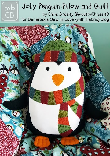 Benartex Jolly Penguin Pillow Tutorial