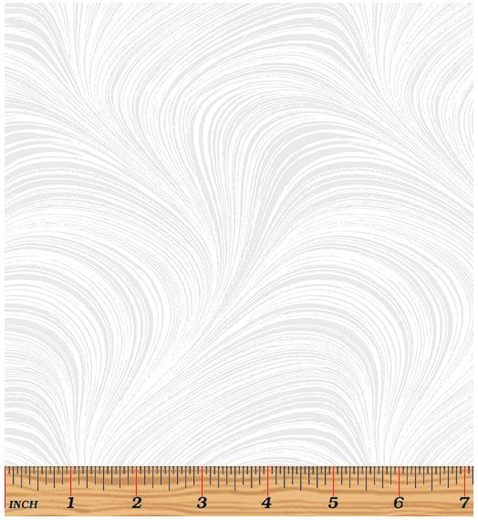 Benartex Wave Texture 2966-09 White