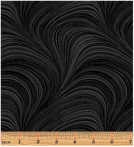 Benartex Wave Texture 2966-12 Black