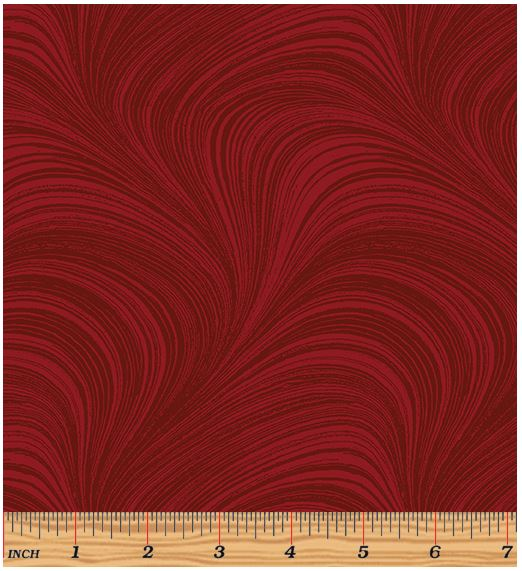 Benartex Wave Texture 2966-15 Medium Red