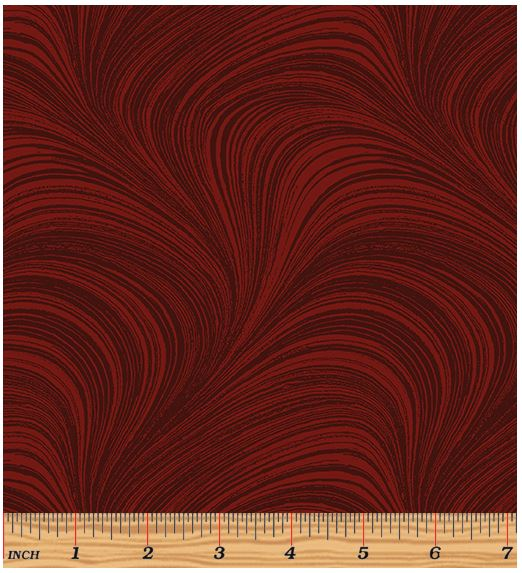 Benartex Wave Texture 2966-19 Dark Red