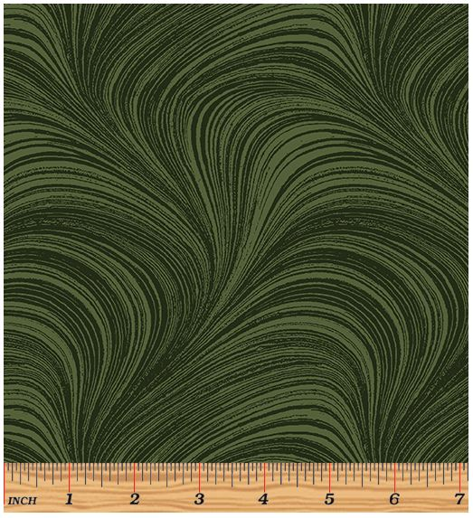 Benartex Wave Texture 2966-44 Dark Green