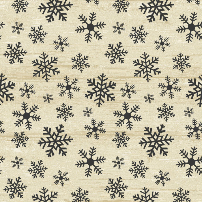 Benartex Rustic Village Christmas Wood Flake Beige 6884-76