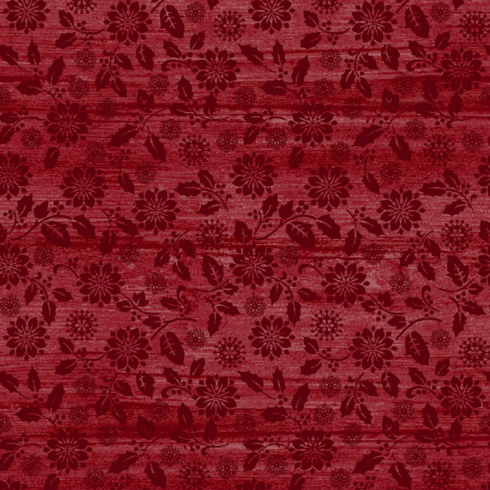 Benartex Rustic Village Christmas Poinsettia Tonal Grenadine 6885-19