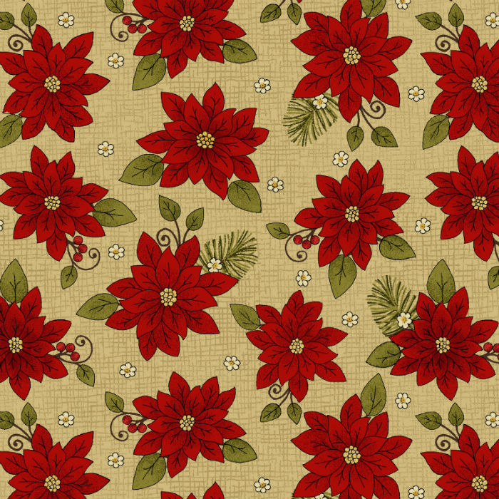Benartex Winterberry Poinsettia Honey 9642-30