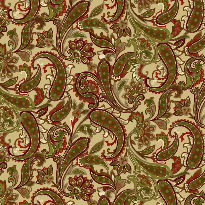 Benartex Winterberry Paisley Honey/Multi 9643-30