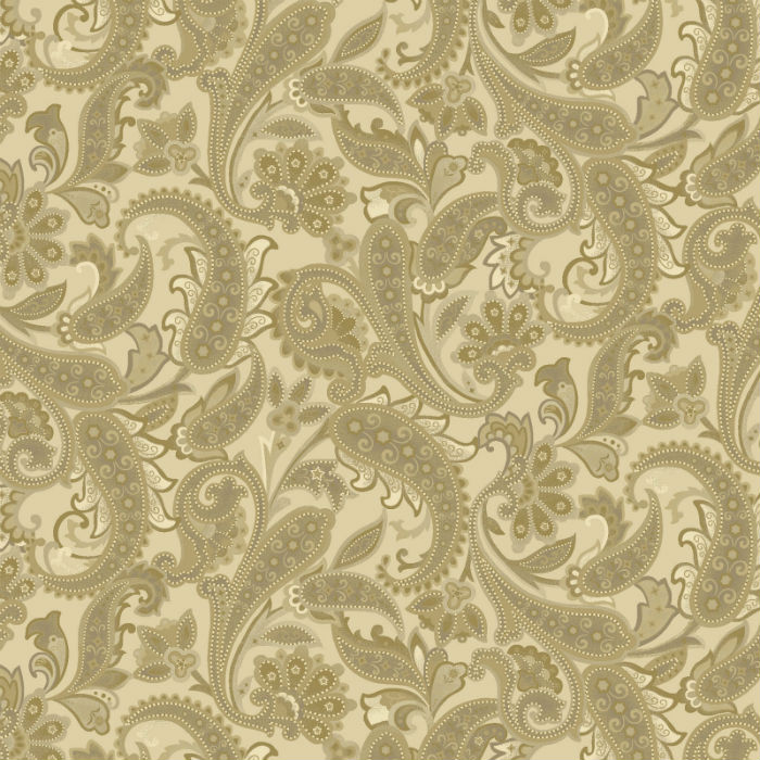 Benartex Winterberry Tonal Paisley Honey 9644-30