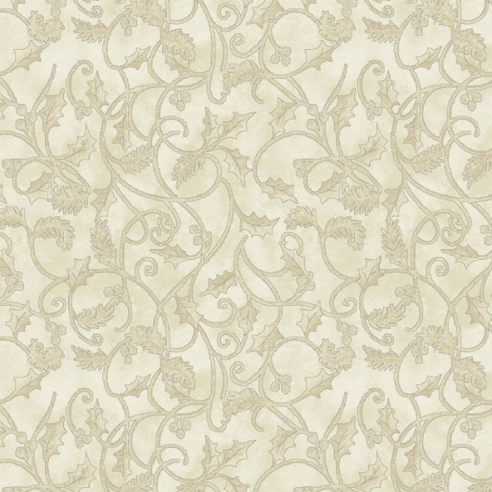 Benartex Winterberry Scroll Cream 9645-07
