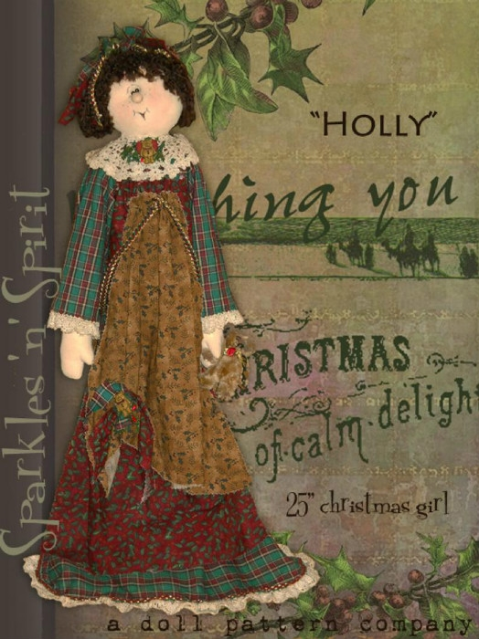 Sparkles 'n' Spirit Holly Doll Pattern