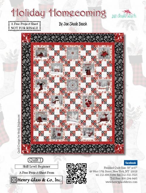 Henry Glass Holiday Homecoming Free Pattern 1