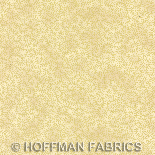 Hoffman Scroll Blenders Cream/Gold J9216-33G