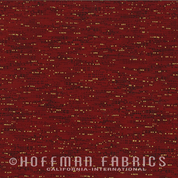 Hoffman Diamonds in the Sky N7541-38G Burgandy/Gold Metallic