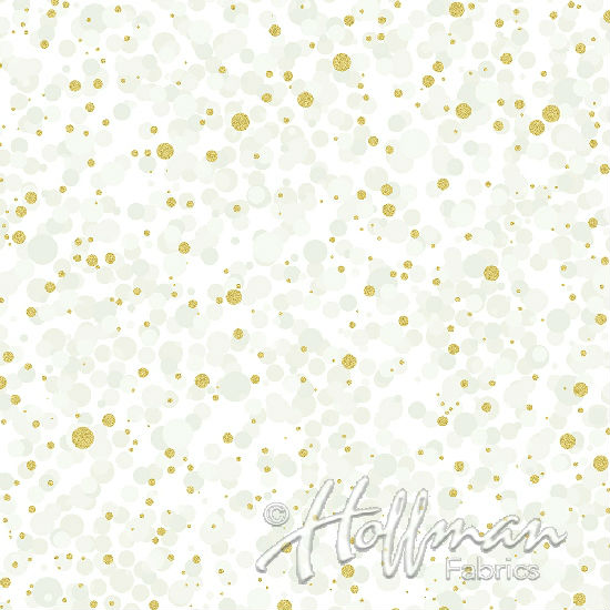 Hoffman Poinsettia Song Q7637-22G Ivory/Gold