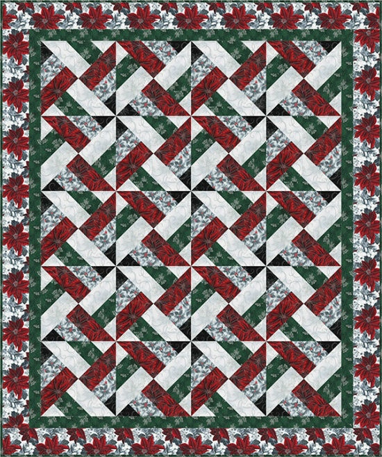 Christmas Confetti in Silver Quilt Kit