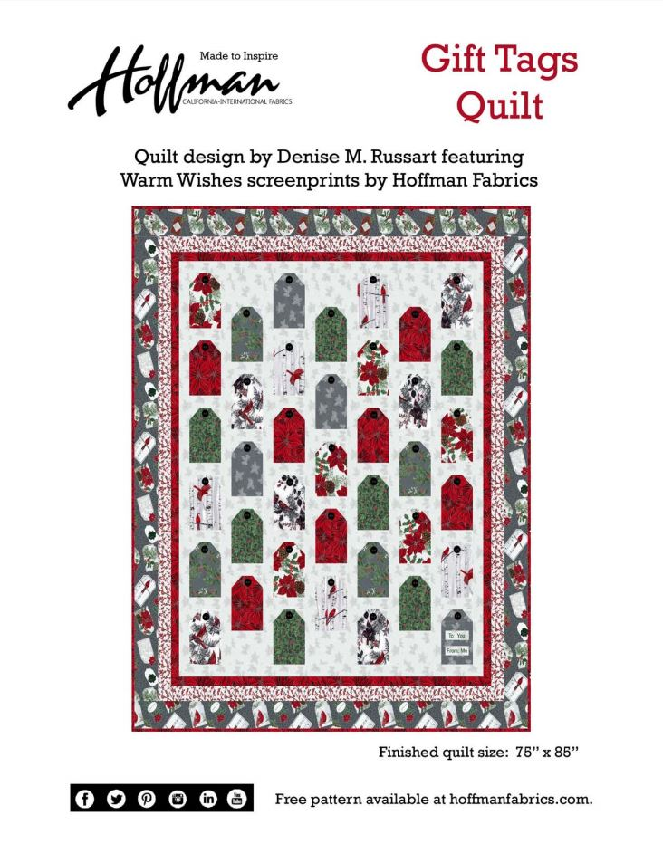 Hoffman Warm Wishes Free Pattern Download