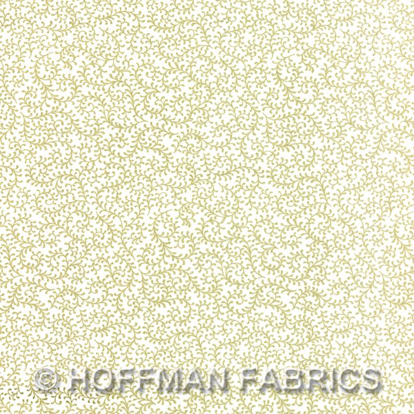 Hoffman Scroll Blenders White/Gold J9216-3G