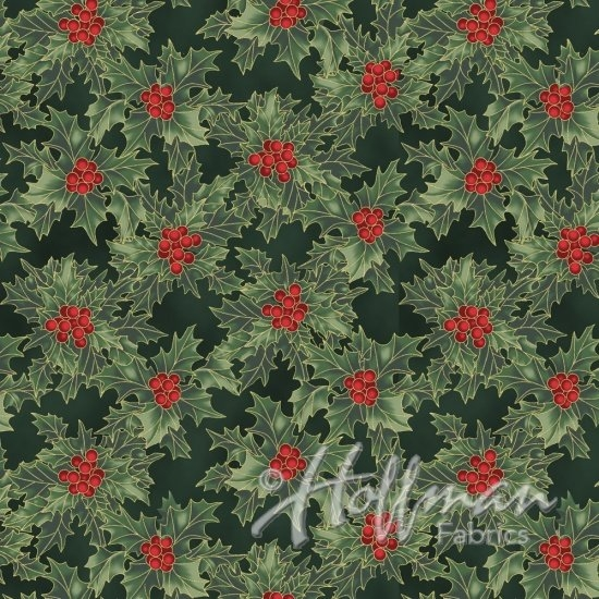 Hoffman Cardinal Carols Q7632-60G Hunter/Gold