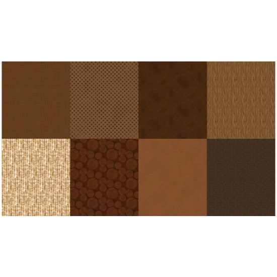 Hoffman Spectrum Digital Fat Quarter Panel Q4481-386-Brownie