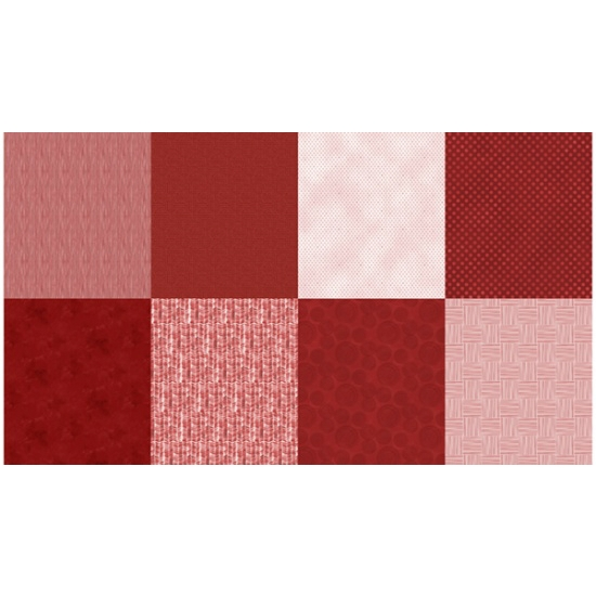 Hoffman Spectrum Digital Fat Quarter Panel Q4481-78-Scarlet