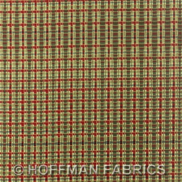 Hoffman Dashing All the Way Cranberry/Cream K7207-161G