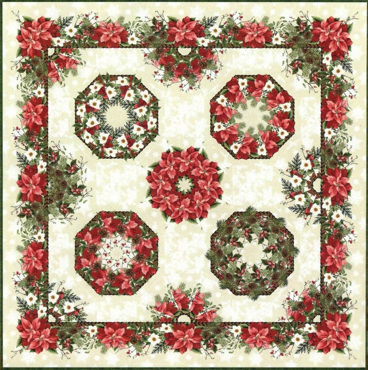 One-Fabric Kaleidoscope Wallhanging Kit (Red)