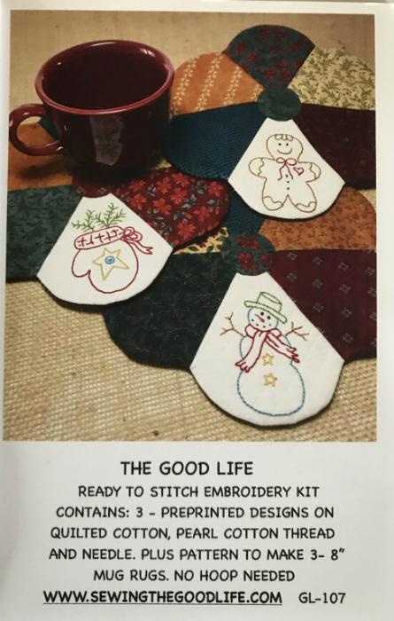 Christmas Mug Rug Kit and Pattern GL-107