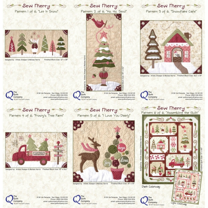 Sew Merry 6 Pattern Set THQMerry100