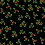 Loralie Designs Snow Ladies Lotsa Holly Black LOD692-406