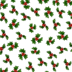 Loralie Designs Snow Ladies Lotsa Holly White LOD692-407