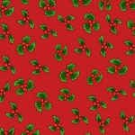 Loralie Designs Snow Ladies Lotsa Holly Red LOD692-408