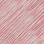Loralie Designs Snow Ladies Quirky Bias Stripe White/Red LOD692-411
