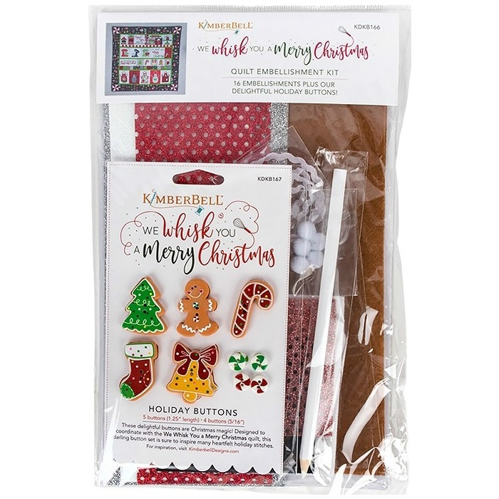 We Whisk You a Merry Christmas! Embellishment Kit KIDKB166
