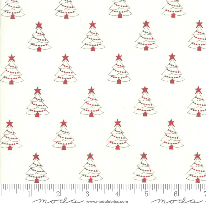 Moda Country Christmas Tree Farm Winter White 2961-11