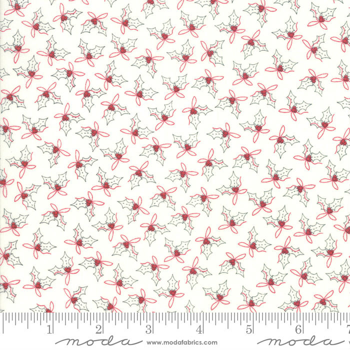 Moda Country Christmas Holly Winter White 2966-11