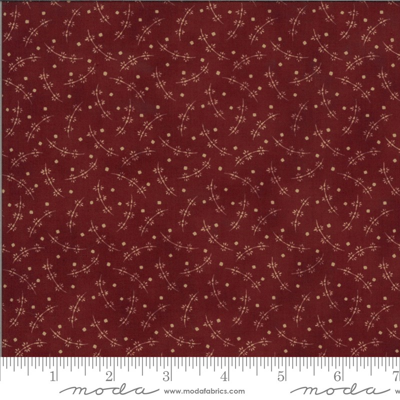Moda Redwork Gatherings 49112-15 Dark Red