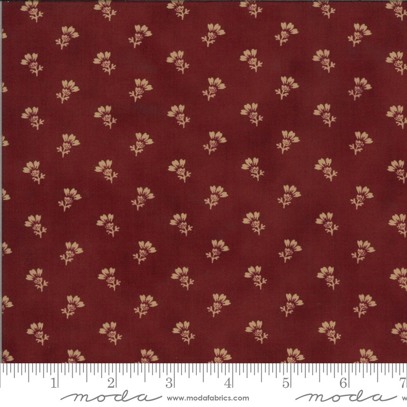 Moda Redwork Gatherings 49114-16 Dark Red